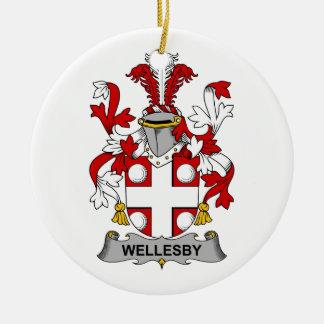 Escudo de la familia de Wellesby Ornamento Para Reyes Magos