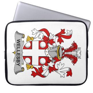 Escudo de la familia de Wellesby Funda Portátil