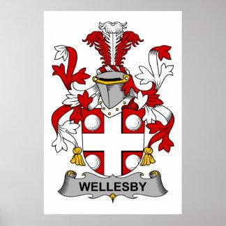 Escudo de la familia de Wellesby Impresiones