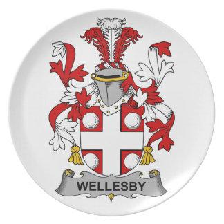 Escudo de la familia de Wellesby Plato De Comida