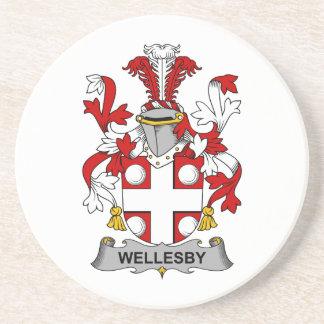 Escudo de la familia de Wellesby Posavasos Personalizados