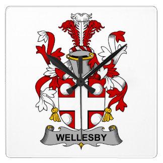 Escudo de la familia de Wellesby Reloj De Pared