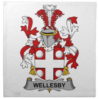 Escudo de la familia de Wellesby Servilletas Imprimidas