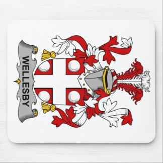 Escudo de la familia de Wellesby Tapete De Ratón