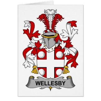 Escudo de la familia de Wellesby Tarjeta