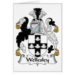 Escudo de la familia de Wellesley Felicitación