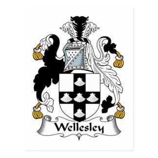 Escudo de la familia de Wellesley Tarjetas Postales