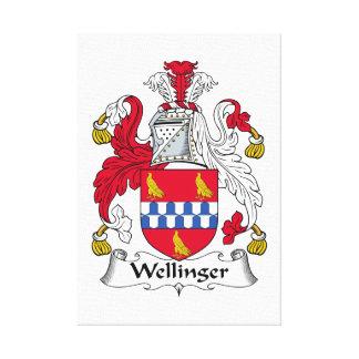 Escudo de la familia de Wellinger Impresiones En Lona Estiradas