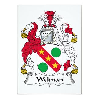 """Escudo de la familia de Welman Invitación 5"""" X 7"""""""