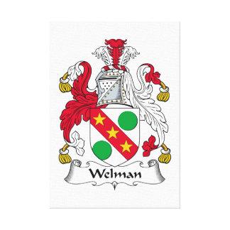 Escudo de la familia de Welman Lienzo Envuelto Para Galerías