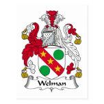 Escudo de la familia de Welman Postal