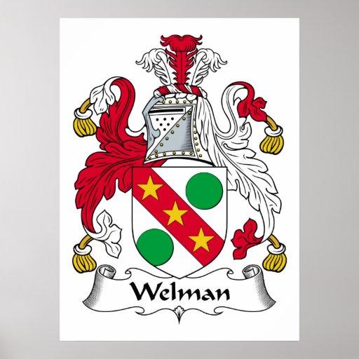 Escudo de la familia de Welman Posters