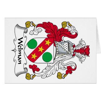 Escudo de la familia de Welman Tarjeta De Felicitación