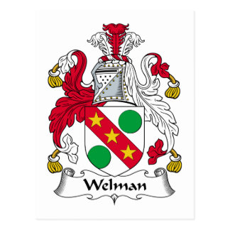 Escudo de la familia de Welman Tarjetas Postales