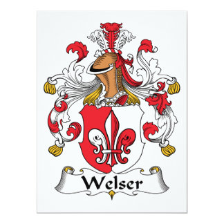 """Escudo de la familia de Welser Invitación 6.5"""" X 8.75"""""""
