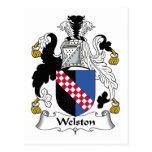 Escudo de la familia de Welston Tarjeta Postal