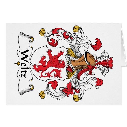 Escudo de la familia de Weltz Tarjeta De Felicitación