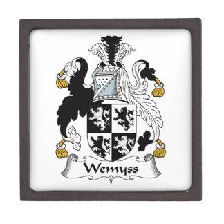 Escudo de la familia de Wemyss Caja De Recuerdo De Calidad