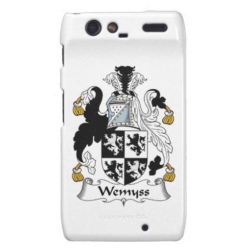 Escudo de la familia de Wemyss Motorola Droid RAZR Carcasas