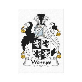 Escudo de la familia de Wemyss Impresión En Lona