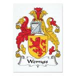 Escudo de la familia de Wemyss Invitación 12,7 X 17,8 Cm