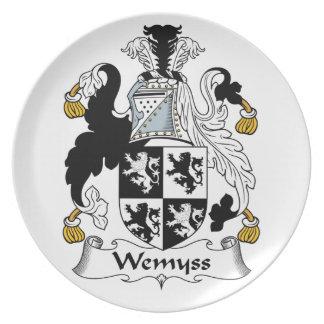 Escudo de la familia de Wemyss Plato Para Fiesta
