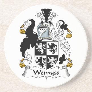 Escudo de la familia de Wemyss Posavasos Cerveza