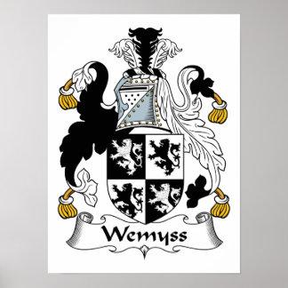 Escudo de la familia de Wemyss Poster