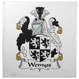 Escudo de la familia de Wemyss Servilleta Imprimida