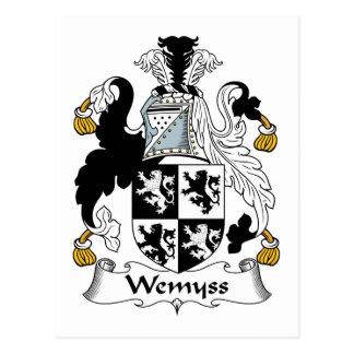 Escudo de la familia de Wemyss Tarjetas Postales