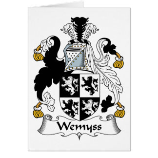 Escudo de la familia de Wemyss Tarjetón