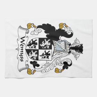 Escudo de la familia de Wemyss Toalla De Cocina