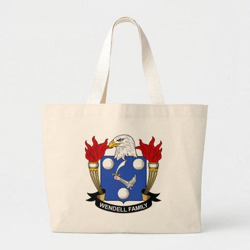 Escudo de la familia de Wendell Bolsas Lienzo