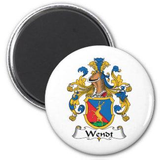 Escudo de la familia de Wendt Imán Redondo 5 Cm