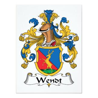 """Escudo de la familia de Wendt Invitación 6.5"""" X 8.75"""""""