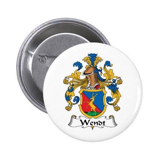 Escudo de la familia de Wendt Pin Redondo 5 Cm
