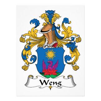Escudo de la familia de Weng Invitacion Personalizada