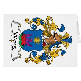 Escudo de la familia de Weng Felicitacion