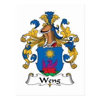 Escudo de la familia de Weng Postales