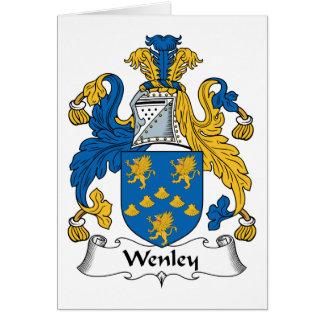 Escudo de la familia de Wenley Tarjeta De Felicitación