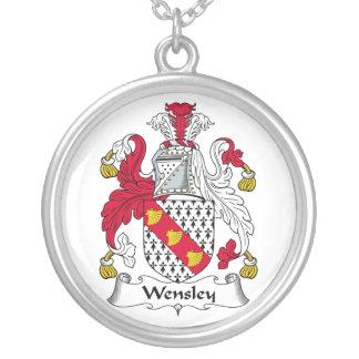 Escudo de la familia de Wensley Colgante Redondo