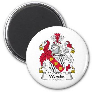 Escudo de la familia de Wensley Imán Redondo 5 Cm