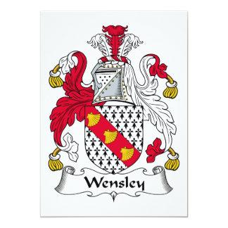 """Escudo de la familia de Wensley Invitación 5"""" X 7"""""""
