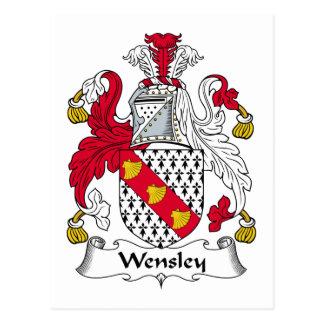 Escudo de la familia de Wensley Tarjetas Postales