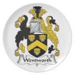 Escudo de la familia de Wentworth Platos