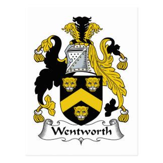 Escudo de la familia de Wentworth Tarjeta Postal