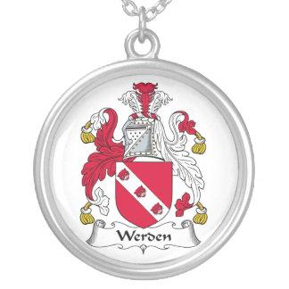 Escudo de la familia de Werden Colgante Redondo