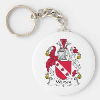 Escudo de la familia de Werden Llavero Redondo Tipo Pin