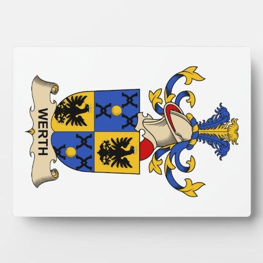 Escudo de la familia de Werth Placas Con Foto
