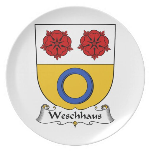 Escudo de la familia de Weschhaus Plato De Cena